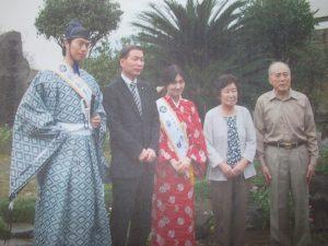岡山から宇喜多秀家、豪姫親善訪問