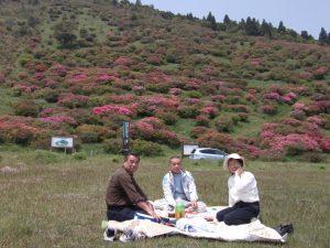 大野公民館長夫婦もお花見です。