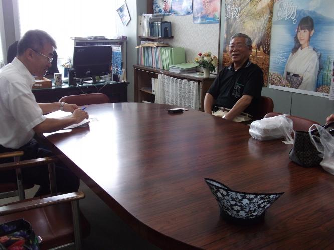 佐土原島津、400年事業に向けて-垂水市役所訪問