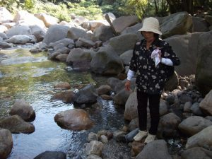 猿ヶ城渓谷,水温15℃