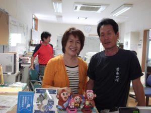 猿ヶ城、夏の花、寺田さんと中木さん