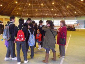 民泊、広島県府中中学校-1