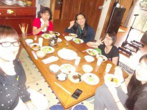 民泊(台湾) お手伝い編-先生と一緒に昼食