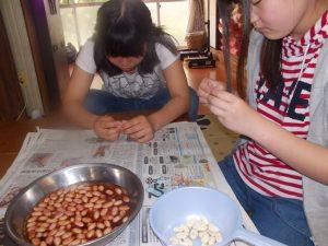 ピーナツ豆腐造りに挑戦