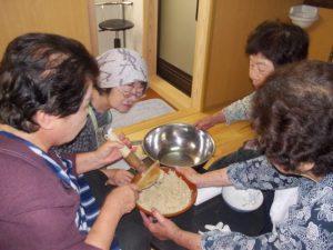 垂水旬の料理(麦飯に冷汁)-1