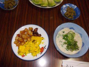 垂水旬の料理(麦飯に冷汁)-4