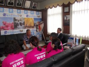 YOSAKOIチーム、市長表敬訪問