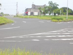 ここに写っているだけで5本の道路が・・・