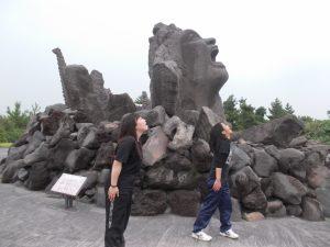 桜島、長渕剛のモニュメント