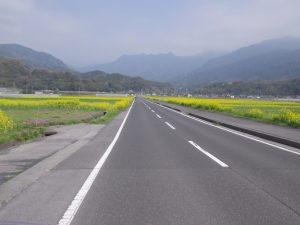 垂水フェリ―から猿ヶ城への田園風景