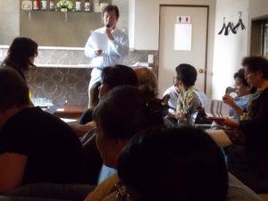 内園氏から桜島噴火と民泊の状況説明