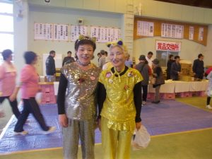 YOSAKOI最高齢チーム「市比野温泉B、B、C元気ッス」のお姉さん