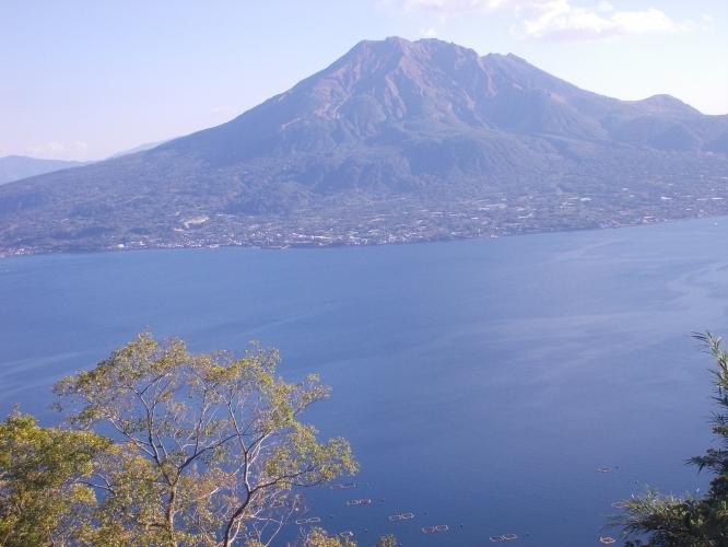 寺山から見える桜島