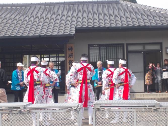 大浦町ほうそう踊りを観に行きました-1