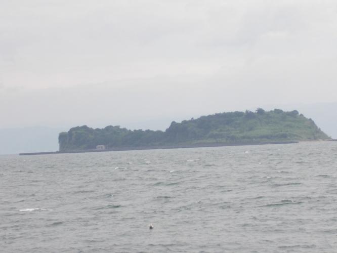 桜島沖合、新島に行きました-1