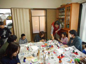 土曜日、子供達も絵付け体験